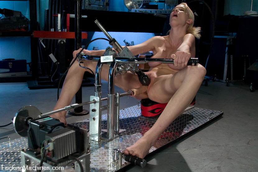 Girl fucked by machine