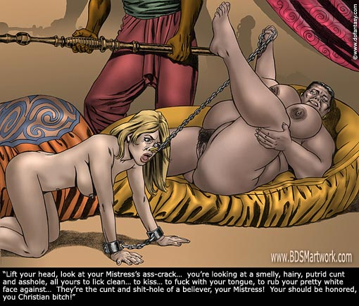 bdsm art toons zanzibar slave market silver cartoon