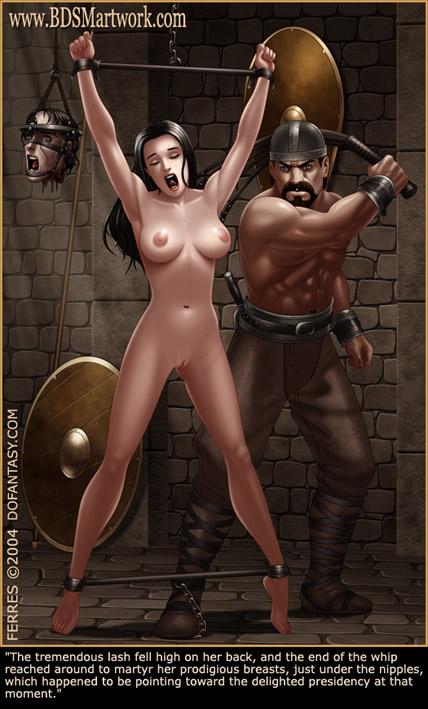 Bdsm Cartoons Slavegirls As Booty Of - Silver Cartoon -8460