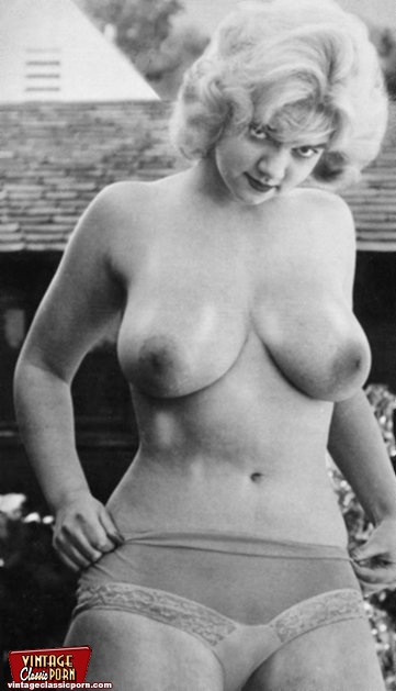 Vintage mature breasts