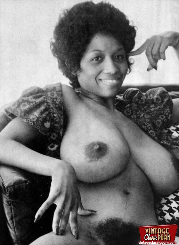 Hairy black pussy from the 70s