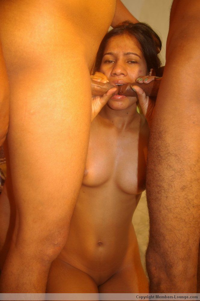 Hot naked girl geting fucked