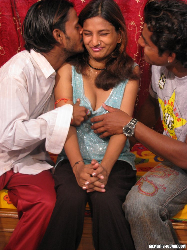 Threesome Two Men One Woman