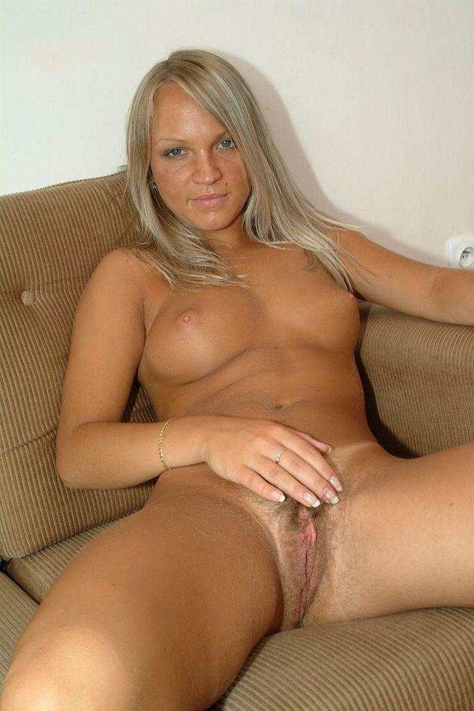 Blonde sexy nude hairy