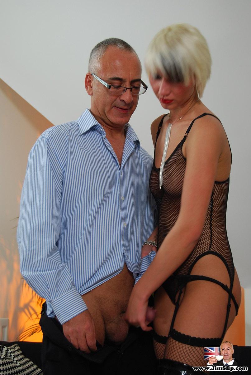 Hot Blonde Girl Stripping