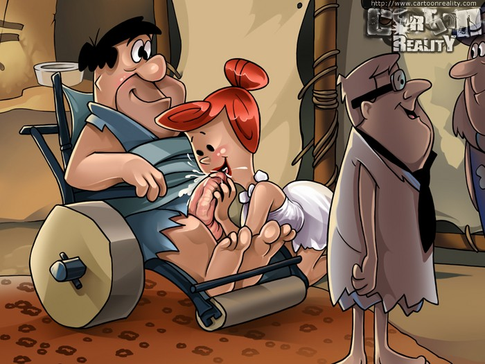 Toon milf Wilma Flintstone passionately fucking at - Picture 1