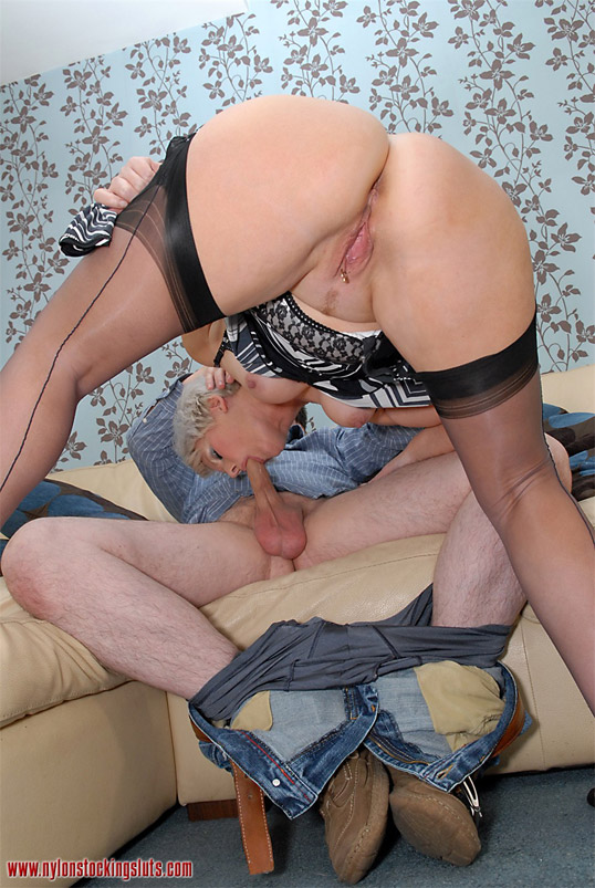 Blonde matures on fuck with panties