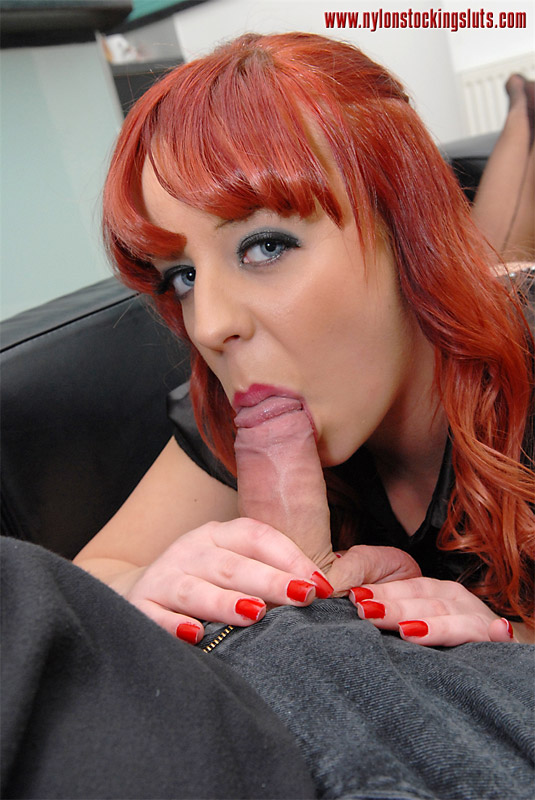 Mature redhead and black