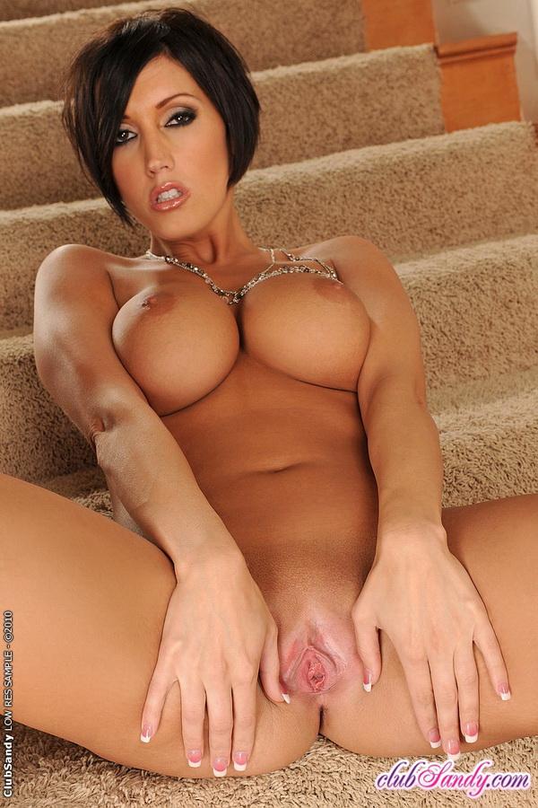 sexy brunette stripping