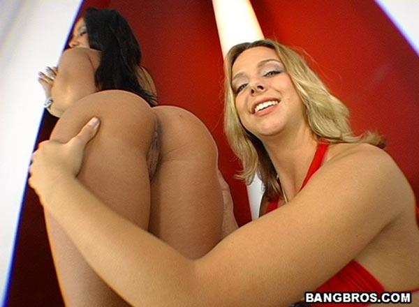 Lesbian Threesome Licking Ass