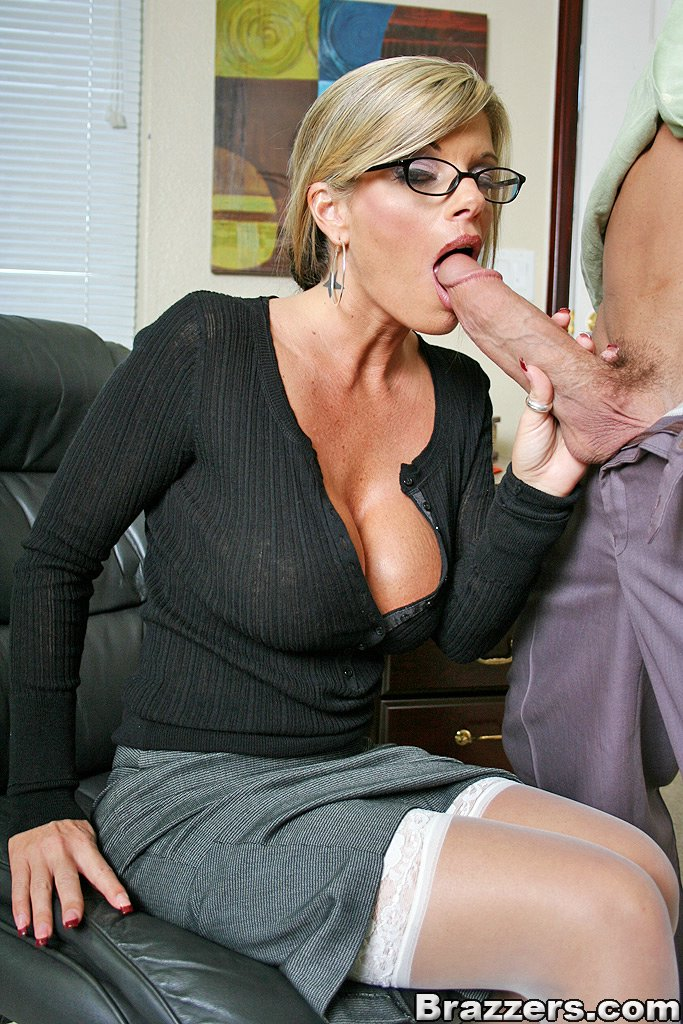 Blonde Milf Glasses Big Tits