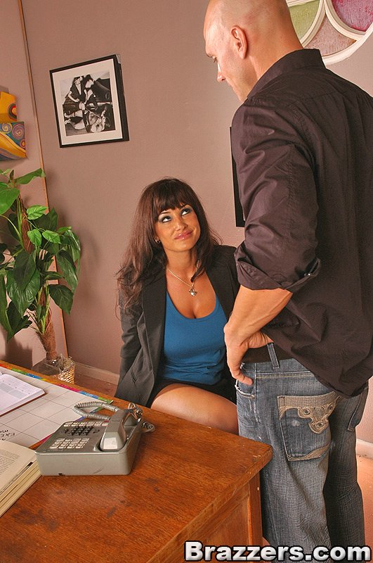 Big tits at work lisa ann
