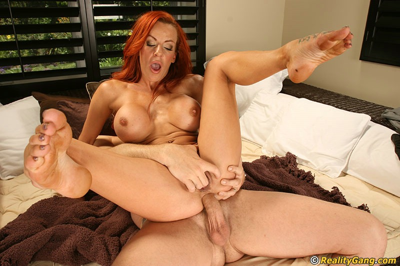 Busty redhead anal mature mommy