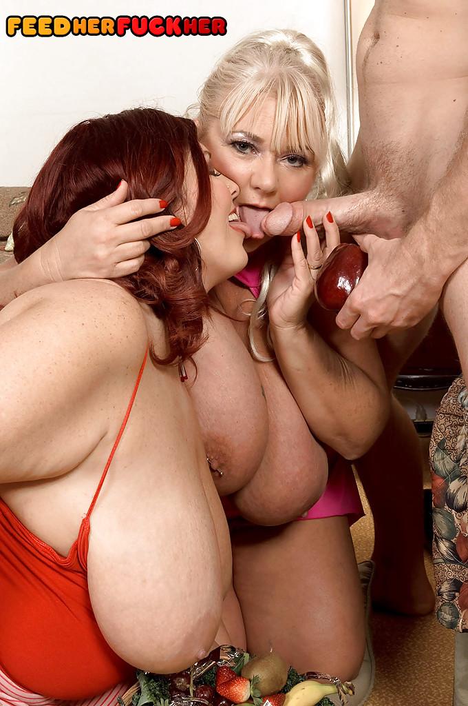 Big Tit Threesome Rough