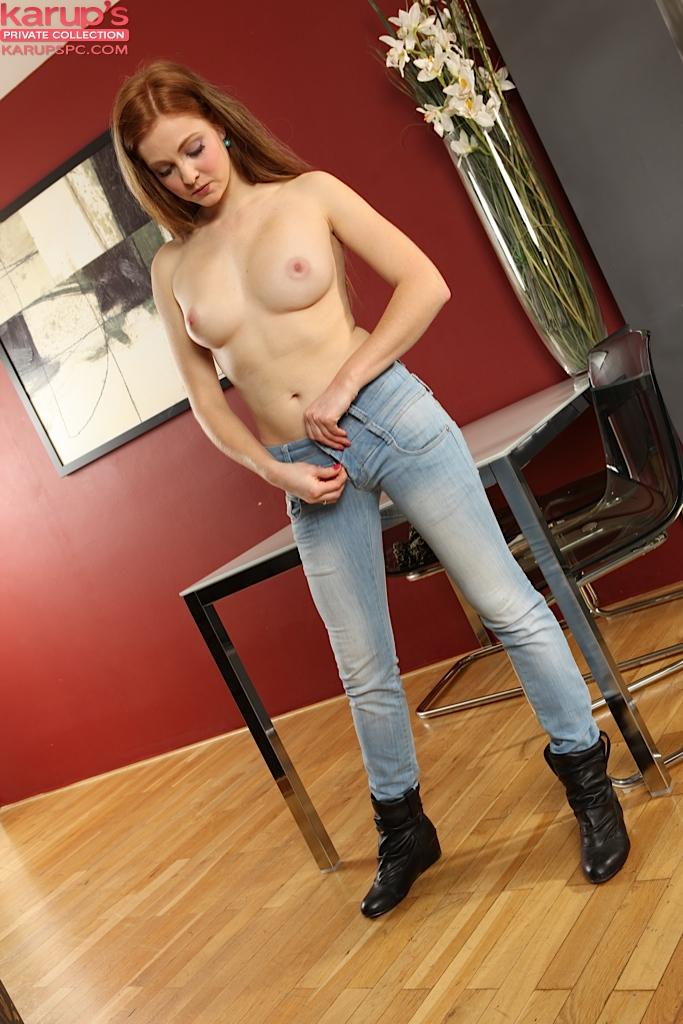 Big Tits Redhead Teen Solo