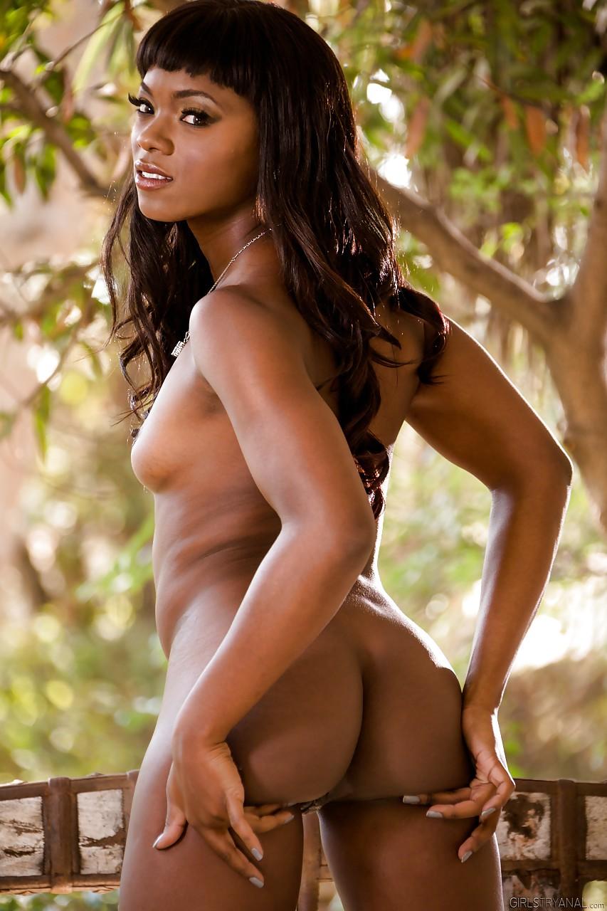 Naked ebony lesbians. Ana Foxxx, Natasha Starr. Picture 9.