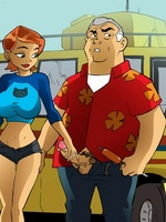 Cartoons porno. Ben 10 and his slut.