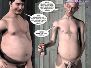 Three perverted older guys tied up and gangbanging - Picture 10
