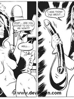 Toon sex comics. Woman gets tied up and toy fucked. - Picture 15
