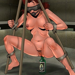 Toon porn. Merciless pussy stretching in the dungeon. - Picture 1