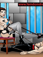 Adult cartoons. Knelt male slaves' tortures and - Picture 1