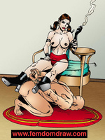 Adult cartoons. Knelt male slaves' tortures and - Picture 2