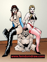 Adult cartoons. Knelt male slaves' tortures and - Picture 3