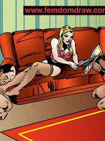 Adult cartoons. Knelt male slaves' tortures and - Picture 4