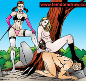 Adult cartoons. Knelt male slaves' tortures and humiliations.