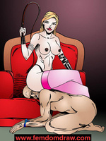 Adult cartoons. Knelt male slaves' tortures and - Picture 9