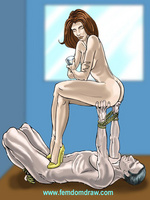 Cartoonsex. Forced femdom drawings of grim - Picture 3