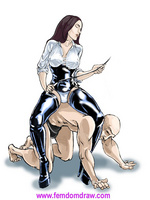 Cartoonsex. Forced femdom drawings of grim - Picture 4
