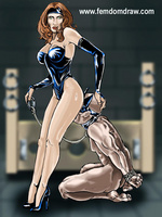 Cartoonsex. Forced femdom drawings of grim - Picture 5