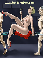 Cartoonsex. Forced femdom drawings of grim - Picture 8