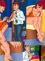 Porn comix. Witty comics with a shop assistant - Picture 4
