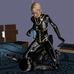 3d porn. 3D Latex trousers and blouse can be taken - Picture 4