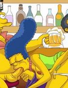 Cartoonporn. Simpsons try hardcore.