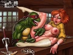 Cartoon porn comics. Horny Teenage Mutant Ninja - Picture 2
