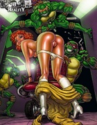 Cartoon porn comics. Horny Teenage Mutant Ninja Turtles.