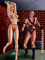 Bondage toons. Colored art of female pain training. - Picture 5