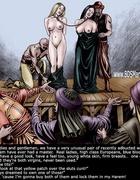 Bdsm art toons. ZANZIBAR SLAVE MARKET. White slavegirl to her Oriental