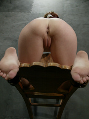 Xxx bdsm. Bound hottie gets caned, flogged, - Unique Bondage - Pic 3