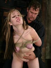 Bdsm xxx. Haley Scott likes to get tied up - Unique Bondage - Pic 11