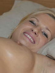 Nylon sex. Luciana and Simony tied in bed to - Unique Bondage - Pic 11