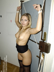 Hosiery porn. Lucky and Lola tied to be - Unique Bondage - Pic 21