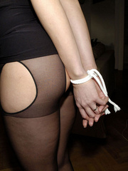 Bdsm girls. Jane tied standing. - Unique Bondage - Pic 20