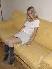 Bondage galleries. Girls in white stockings - Unique Bondage - Pic 4