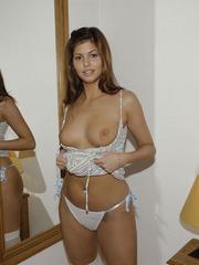 Bondage galleries. Girls in white stockings - Unique Bondage - Pic 13
