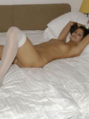 Bondage galleries. Girls in white stockings - Unique Bondage - Pic 17