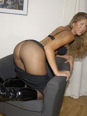 Nylon stockings. Jennifer in ripped open - Unique Bondage - Pic 6